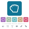 Grab cursor flat icons on color rounded square backgrounds - Grab cursor white flat icons on color rounded square backgrounds. 6 bonus icons included