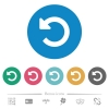 Undo changes flat round icons - Undo changes flat white icons on round color backgrounds. 6 bonus icons included.