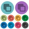 Subtract shapes color darker flat icons - Subtract shapes darker flat icons on color round background