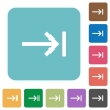Keyboard tab white flat icons on color rounded square backgrounds - Keyboard tab rounded square flat icons