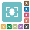 Camera selfie mode rounded square flat icons - Camera selfie mode white flat icons on color rounded square backgrounds