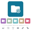 Directory settings flat icons on color rounded square backgrounds - Directory settings white flat icons on color rounded square backgrounds. 6 bonus icons included