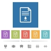 Download document flat white icons in square backgrounds - Download document flat white icons in square backgrounds. 6 bonus icons included.