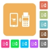 Mobile payment rounded square flat icons - Mobile payment flat icons on rounded square vivid color backgrounds.