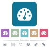 Dashboard flat icons on color rounded square backgrounds - Dashboard white flat icons on color rounded square backgrounds. 6 bonus icons included