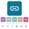 Insert link flat icons on color rounded square backgrounds - Insert link white flat icons on color rounded square backgrounds. 6 bonus icons included