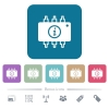 Hardware info flat icons on color rounded square backgrounds - Hardware info white flat icons on color rounded square backgrounds. 6 bonus icons included