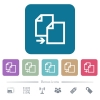 Copy item flat icons on color rounded square backgrounds - Copy item white flat icons on color rounded square backgrounds. 6 bonus icons included