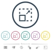 Maximize element flat color icons in round outlines - Maximize element flat color icons in round outlines. 6 bonus icons included.