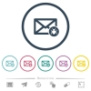 Spam mail flat color icons in round outlines - Spam mail flat color icons in round outlines. 6 bonus icons included.