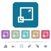 Maximize window flat icons on color rounded square backgrounds - Maximize window white flat icons on color rounded square backgrounds. 6 bonus icons included
