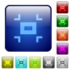 Small screen color square buttons - Small screen icons in rounded square color glossy button set
