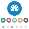 Dashboard flat round icons - Dashboard flat white icons on round color backgrounds. 6 bonus icons included.