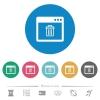 Application delete flat round icons - Application delete flat white icons on round color backgrounds. 6 bonus icons included.