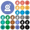 Wireless camera round flat multi colored icons - Wireless camera multi colored flat icons on round backgrounds. Included white, light and dark icon variations for hover and active status effects, and bonus shades.