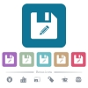Edit file white flat icons on color rounded square backgrounds. 6 bonus icons included - Edit file flat icons on color rounded square backgrounds