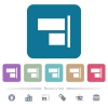 Align to right white flat icons on color rounded square backgrounds. 6 bonus icons included - Align to right flat icons on color rounded square backgrounds