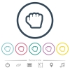 Grab cursor flat color icons in round outlines - Grab cursor flat color icons in round outlines. 6 bonus icons included.