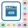 Browser 408 request timeout simple icons - Browser 408 request timeout simple icons in color rounded square frames on white background