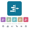 Increase right indentation of content white flat icons on color rounded square backgrounds. 6 bonus icons included - Increase right indentation of content flat icons on color rounded square backgrounds