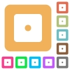 Dice one rounded square flat icons - Dice one flat icons on rounded square vivid color backgrounds.