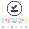 Successfully saved flat color icons in round outlines - Successfully saved flat color icons in round outlines. 6 bonus icons included.