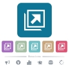 Open in new window flat icons on color rounded square backgrounds - Open in new window white flat icons on color rounded square backgrounds. 6 bonus icons included
