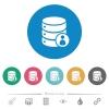 Database privileges flat round icons - Database privileges flat white icons on round color backgrounds. 6 bonus icons included.