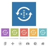Adjust refresh rate flat white icons in square backgrounds - Adjust refresh rate flat white icons in square backgrounds. 6 bonus icons included.