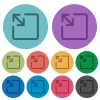 Resize object color darker flat icons - Resize object darker flat icons on color round background