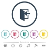 Enter flat color icons in round outlines - Enter flat color icons in round outlines. 6 bonus icons included.