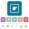 Adjust object color flat icons on color rounded square backgrounds - Adjust object color white flat icons on color rounded square backgrounds. 6 bonus icons included