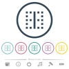 Vertical border flat color icons in round outlines - Vertical border flat color icons in round outlines. 6 bonus icons included.