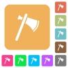 Single tomahawk flat icons on rounded square vivid color backgrounds. - Single tomahawk rounded square flat icons
