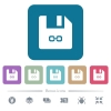 Symbolic link file flat icons on color rounded square backgrounds - Symbolic link file white flat icons on color rounded square backgrounds. 6 bonus icons included