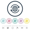 International flat color icons in round outlines - International flat color icons in round outlines. 6 bonus icons included.
