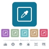 Get object color flat icons on color rounded square backgrounds - Get object color white flat icons on color rounded square backgrounds. 6 bonus icons included
