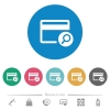 Find credit card flat round icons - Find credit card flat white icons on round color backgrounds. 6 bonus icons included.