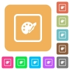Adjust object color flat icons on rounded square vivid color backgrounds. - Adjust object color rounded square flat icons