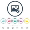 Rename image flat color icons in round outlines - Rename image flat color icons in round outlines. 6 bonus icons included.