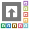 Upload square flat icons - Upload flat icons on simple color square backgrounds