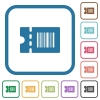 Discount coupon code simple icons - Discount coupon code simple icons in color rounded square frames on white background