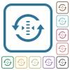 Adjust refresh rate simple icons - Adjust refresh rate simple icons in color rounded square frames on white background
