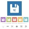 Truncate file flat white icons in square backgrounds - Truncate file flat white icons in square backgrounds. 6 bonus icons included.