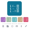 Debugging program flat icons on color rounded square backgrounds - Debugging program white flat icons on color rounded square backgrounds. 6 bonus icons included