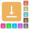Vertical align bottom rounded square flat icons - Vertical align bottom flat icons on rounded square vivid color backgrounds.