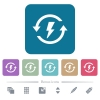 Renewable energy flat icons on color rounded square backgrounds - Renewable energy white flat icons on color rounded square backgrounds. 6 bonus icons included
