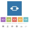 Width tool flat white icons in square backgrounds - Width tool flat white icons in square backgrounds. 6 bonus icons included.