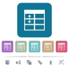 Spreadsheet adjust table row height white flat icons on color rounded square backgrounds. 6 bonus icons included - Spreadsheet adjust table row height flat icons on color rounded square backgrounds