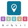 Rename GPS map location white flat icons on color rounded square backgrounds. 6 bonus icons included - Rename GPS map location flat icons on color rounded square backgrounds
